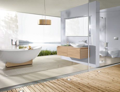 Captivating A Large Bathroom