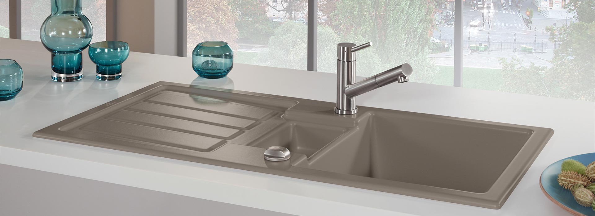 Built-in sink in outstanding quality from Villeroy & Boch