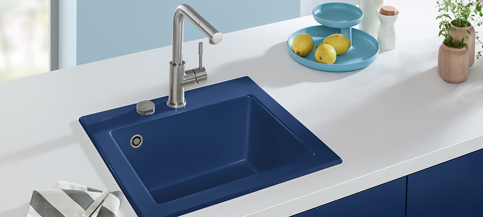 Ceramic Sinks For More Colour Variety In Kitchen Designs