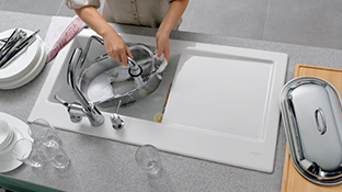High quality ceramic sink from villeroy boch benefit from optimal hygiene fresh cleanliness and minimal cleaning thanks to the ceramicplus surface finish workwithnaturefo