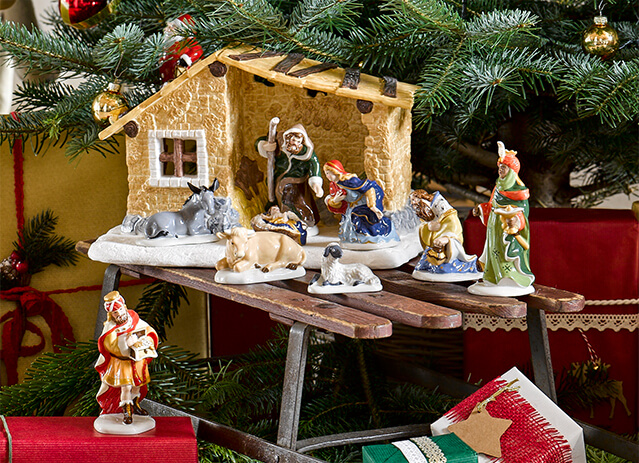 you can tell the christmas story in your living room using the nativity figurines from the nativity story collection and not only your childrens eyes
