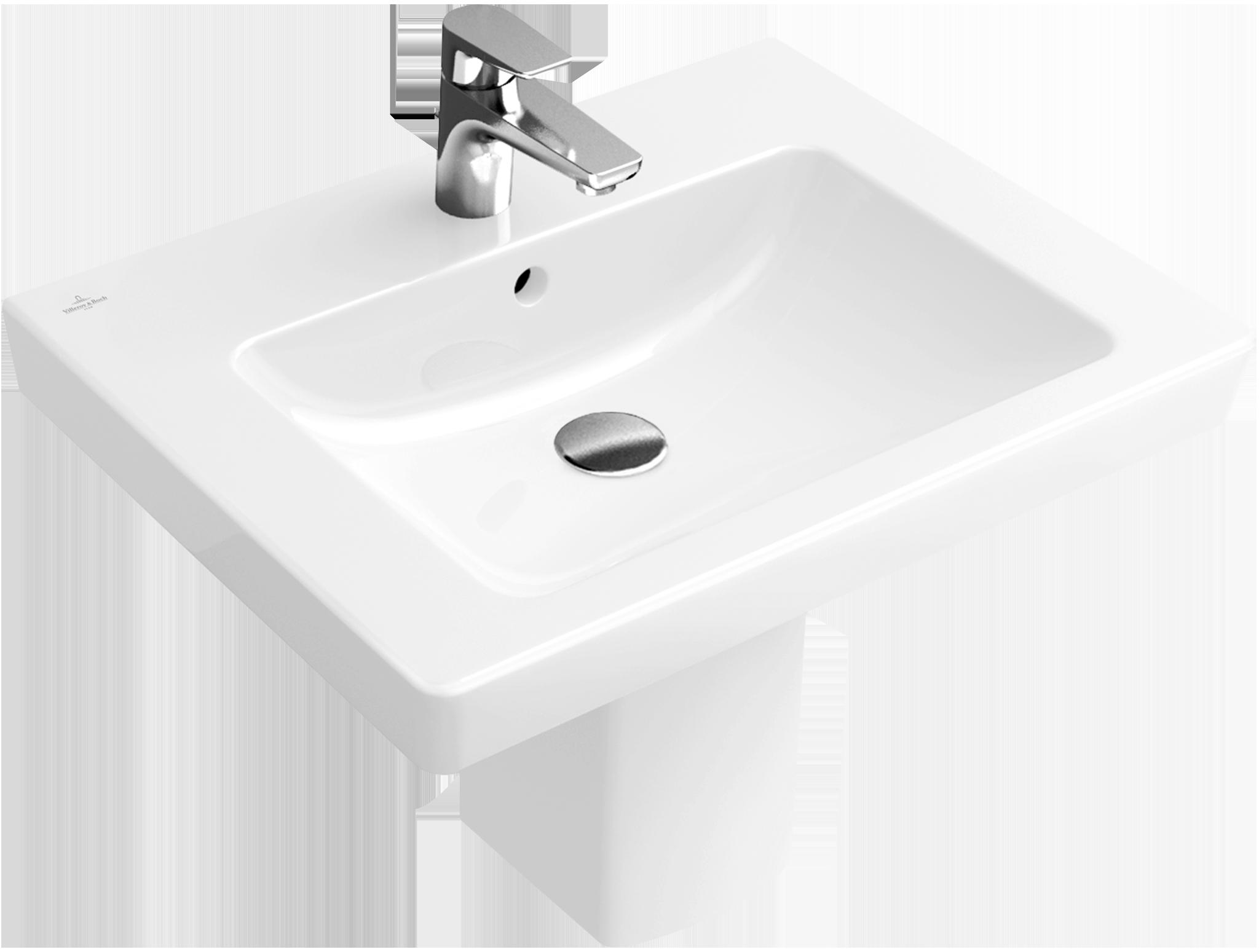 subway 2 0 washbasin angular 711360 villeroy boch. Black Bedroom Furniture Sets. Home Design Ideas