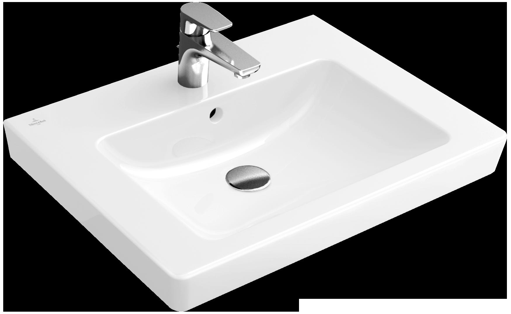 subway 2 0 washbasin angular 71136g villeroy boch. Black Bedroom Furniture Sets. Home Design Ideas